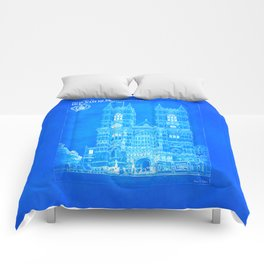 Westminster Abbey Architecture - Gothic Blueprints  Comforters