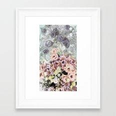 Delicate dreamy pastel floral Framed Art Print