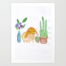 Rabbit cactus  Art Print