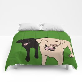 Tanner and Lily Best Labrador Buddies Comforters