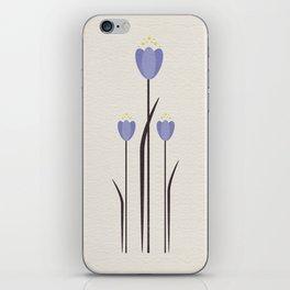 Minimal Bluebells iPhone Skin