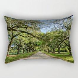 The Avenue of Oaks Rectangular Pillow