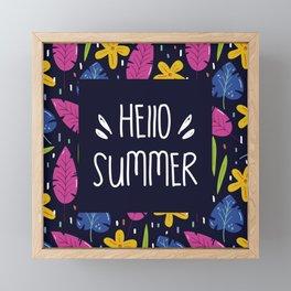 Hello Summer Framed Mini Art Print
