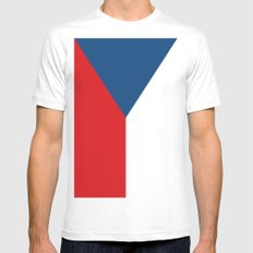 Flag of Czech Republic Mens Fitted Tee White MEDIUM