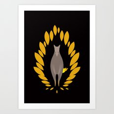 Superwolf Art Print