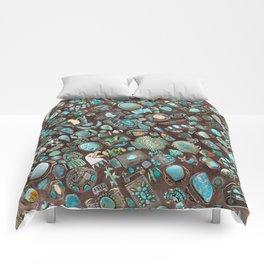 Vintage Navajo Turquoise stones Comforters