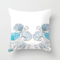 blue perversion Throw Pillow