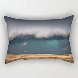 Small - Large Storm Towering Over Windmill in Texas Rectangular Pillow