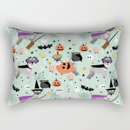 Schnauzer dog breed halloween costumes cute dog gift for fall autumn Rectangular Pillow