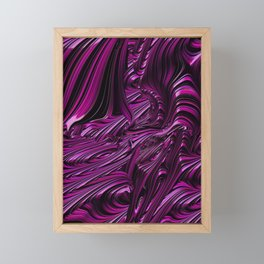 Fancy Fractal Fantasy In Pink Framed Mini Art Print
