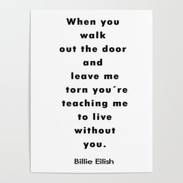 Billie Eilish Quotes Poster