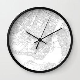 Montreal, Canada Minimalist Map Wall Clock