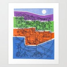 Seoul City #1 Art Print