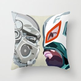 Robots vs. Wrestlers: The Best Tradition Ever Throw Pillow