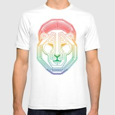 Lion Mens Fitted Tee White MEDIUM