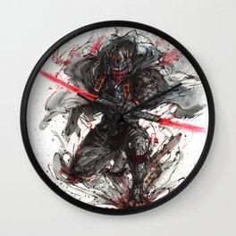 Evil Samurai Sith Lord - Maul Wall Clock