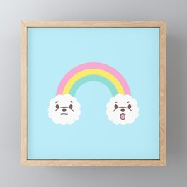 Rainbow Bichon Framed Mini Art Print