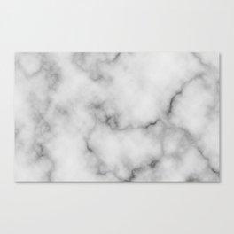 White Marble Pattern Canvas Print