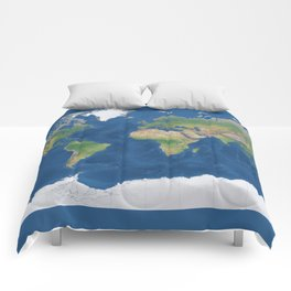 Physical world map with countries & states Comforters