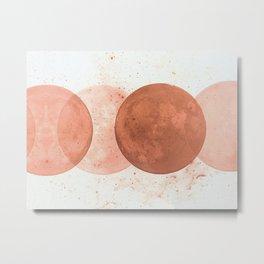 Baked Earth Sunset Metal Print