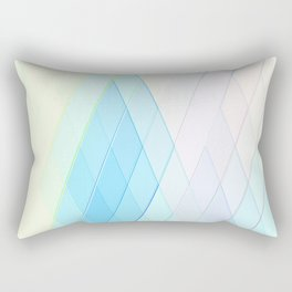 Re-Created Vertices No. 14 by Robert S. Lee  Rectangular Pillow