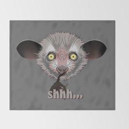 Aye-Aye Lemur Throw Blanket