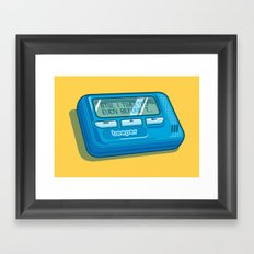 Text Hipster Framed Art Print