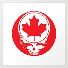 Canadian Steal Your Face (variation#4) Art Print