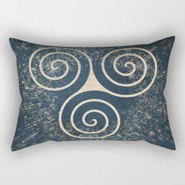 Triskelion Golden Three Spiral Celtic Symbol Rectangular Pillow