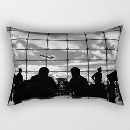 Airport Silhouette Rectangular Pillow