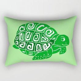 Green Turtle Art Rectangular Pillow