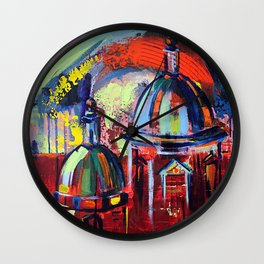 The Eternal City - Expressive Rome Abstract Wall Clock