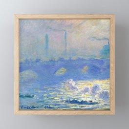 "Claude Monet ""Waterloo Bridge"" Framed Mini Art Print"