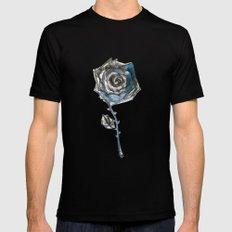 Royal Blue Rose MEDIUM Black Mens Fitted Tee