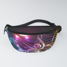 Music Notes in Color Fanny Pack