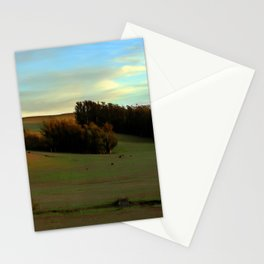 Last Moments of Sunset Glow, Sonoma County Hills Stationery Cards