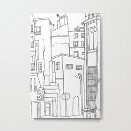 Paris Poetic Buildings Metal Print