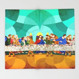 Curves - Last Supper Throw Blanket
