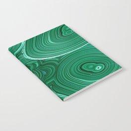 Green Malachite Nature Pattern Design Abstract Notebook
