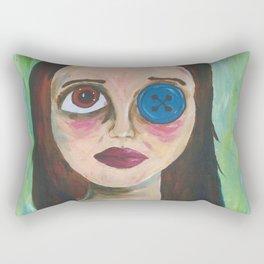 Button Eye Rectangular Pillow