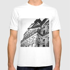 away from this city  White MEDIUM Mens Fitted Tee