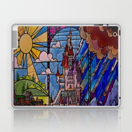 ROMANCE BEAUTY AND THE BEAST Castle Stained Glass Laptop & iPad Skin