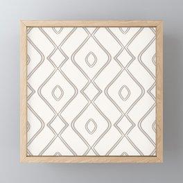 Modern Boho Ogee in Cream Framed Mini Art Print