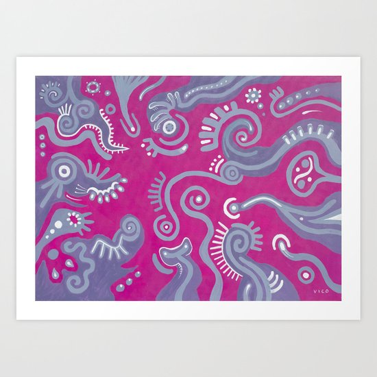 Movimiento Intimo Art Print