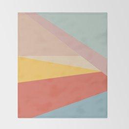 Retro Abstract Geometric Throw Blanket
