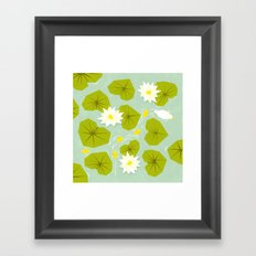Through the maze of lilies Framed Art Print