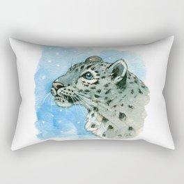 Snow Leopard & snowflakes 860 Rectangular Pillow