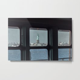 Statue of Liberty from the ferry Metal Print