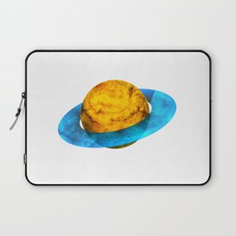 Colorful watercolor hand drawn planet. Laptop Sleeve