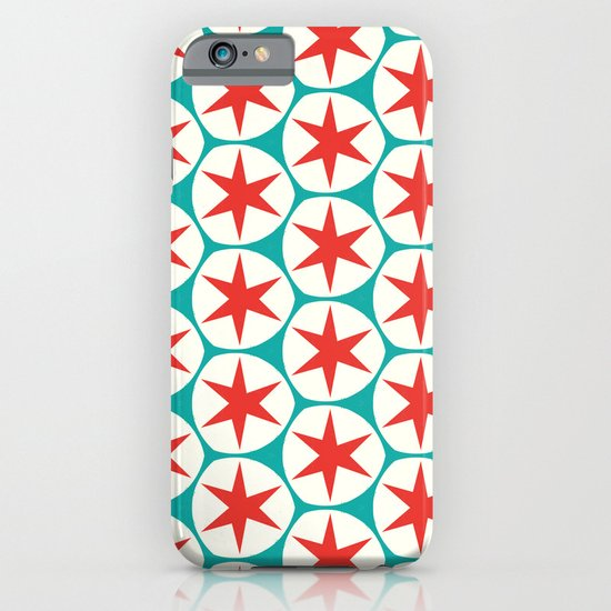 Retro Red Stars Pattern iPhone & iPod Case